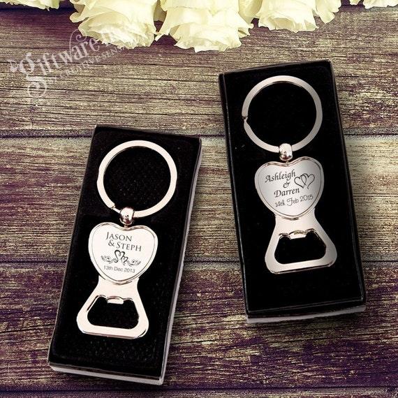 engraved chrome heart bottle opener wedding favour in gift box. Black Bedroom Furniture Sets. Home Design Ideas