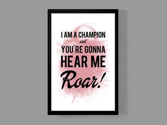 Katy Perry Custom Poster Roar Lyrics Colorful quirky and