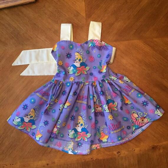 Baby girl toddler alice in wonderland print by
