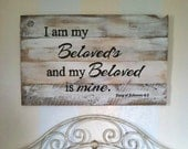 I am my Beloved's and my Beloved is mine, master bedroom decor, master bedroom signs, love signs, wedding signs