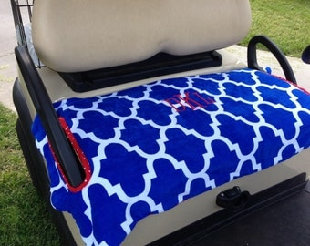 Monogrammed Moroccan Terry Cloth Golf Cart Seat Cover