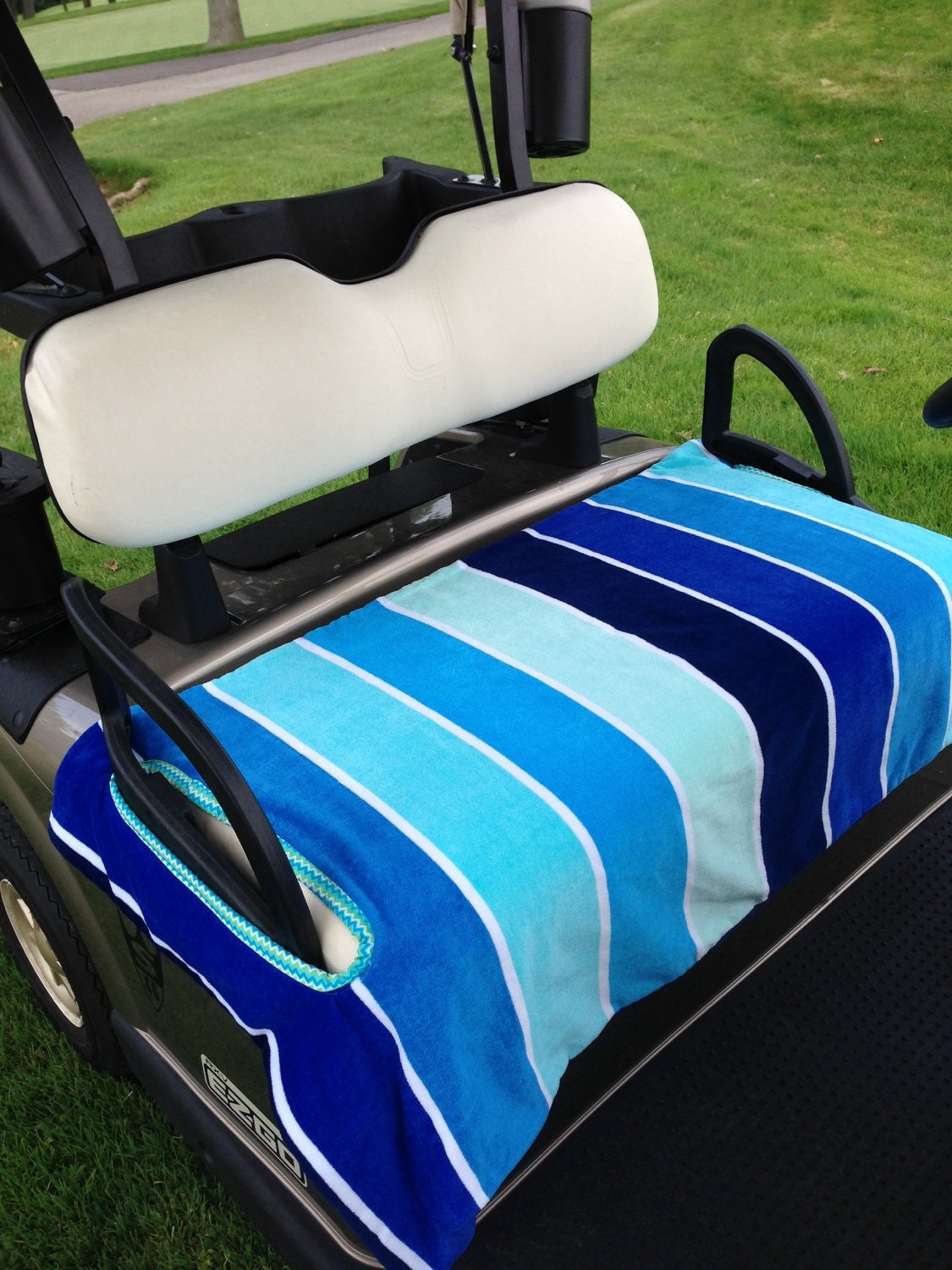 shades of blue terry cloth golf cart seat cover. Black Bedroom Furniture Sets. Home Design Ideas