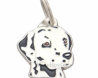 Pet tags MjavHov engraved DALMATIAN