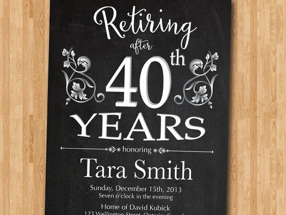 Retirement Invitation Retirement party Invitation Retirement – Retirement Invitation