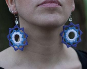 20% DISCOUNT! Handmade crochet earrings  - Tatting Earrings - very light