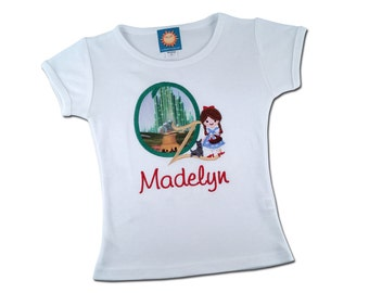Girl Dorothy Shirt - The Wonderful Wizard of Oz with Embroidered Name