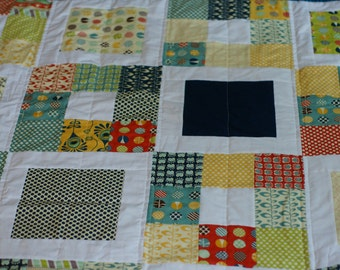 modern quilt, modern patchwork quilt, custom quilt, made to order quilt,  birthday gift, anniversary gift, wedding gift, shower gift