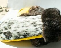 Mittens,  Fur Mittens, Winter Mittens, Handmade Mittens, Warm Mittens, Fur Gloves, Sea Otter Fur, Seal Fur , Hand Warmer Mittens, Real Fur