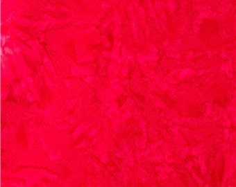 Red batik 100% Cotton Fabric by the yard