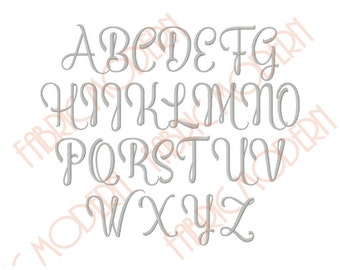 CALLIGRAPHY FONT Embroidery Font Design,two sizes, great monogram alphabet, includes BX, #462