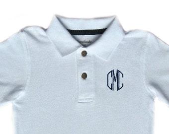 Boy's Classic Monogrammed Polo Shirt