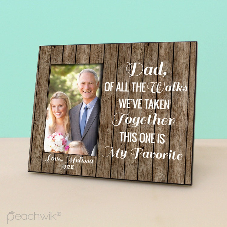 Father of the bride gift dad of all the walks by peachwikdecor