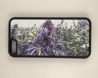 Purp Weed Garden iPhone Galaxy Note HTC LG Hybrid Rubber Protective Case Marijuana Kush