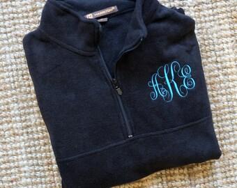 Monogram Sweatshirt, Monogram Fleece jacket, monogram pullover, Monogram quarter zip, sweatshirt monogram, vest jacket, half zip fleece