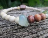 boho stretch bracelet. gypsy. hamsa. yoga. gemstone. hippie. earthy.