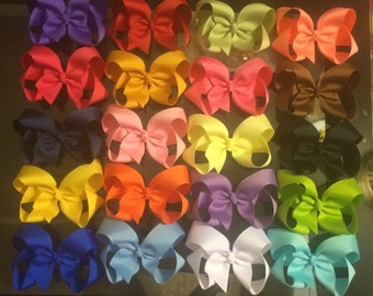5-inch bows: bundle of 20 bows- You pick your own colors (listed in description)!