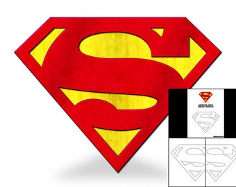 Template for Superman Chest Emblem