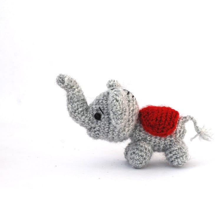 Tiny Amigurumi Doll : Amigurumi elephant tiny doll small toy little
