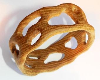 Wooden bracelet, Wooden bangle, Oak Bracelet