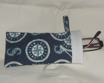 Seattle Mariners -  Reading Glasses Case - Quilted Fully Lined