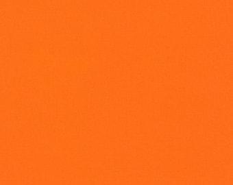 COTTON FABRIC Torch Orange - Kona Cotton Solids by Robert Kaufman