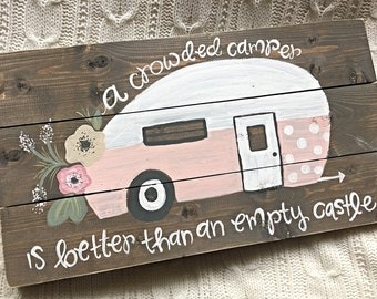 Vintage Camper | Camper Sign | Hand Painted Wood Sign
