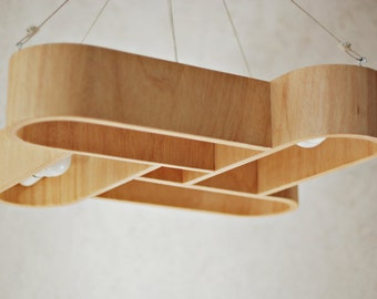 Lamp made of bent plywood