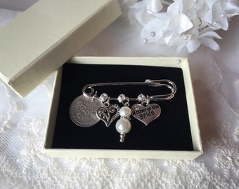Mother of the Bride Keepsake Pin