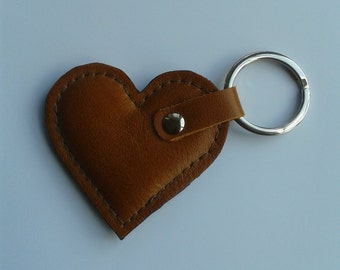 Leather Heart Keyrings