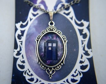 Doctor Who inspired TARDIS galaxy necklace
