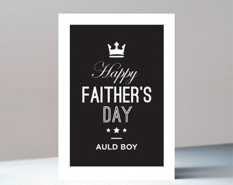 Auld Boy, Faither's Day, Father's Day Card