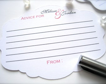 Advice for the bride and groom cards, best wishes cards, wedding comment cards, guest book  - 30 cards