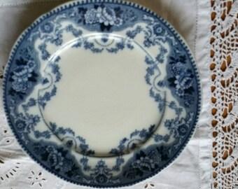 Antique F & Sons Argyle  Burslem Flow Blue  Side Plate