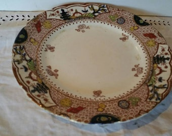 Cypress By Samuel Ford Semi Porcelain Plate Burslem England 23 cm diameter