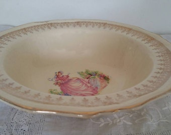 Meakin Crinoline Lady Pinkie Serving Bowl