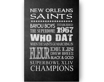 New Orleans Saints Chalkboard Digital Download