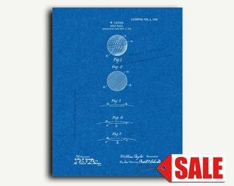 Patent Art - Golf-ball Patent Wall Art Print