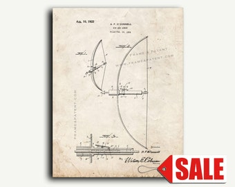 Patent Art - Bow and Arrow Patent Wall Art Print