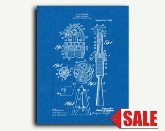 Patent Art - Rocket Apparatus Patent Wall Art Print