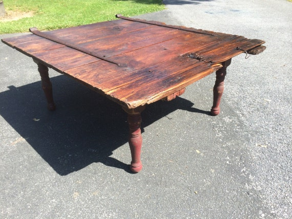 Items Similar To Reclaimed Barn Door Coffee Table On Etsy