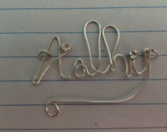 Wire Word and Name Necklace