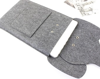 Elephant felt Macbook Air 13 sleeve, Macbook 13 sleeve, Macbook 13 case, Macbook Air case, Macbook Air sleeve, Laptop sleeve, Lapto case 238