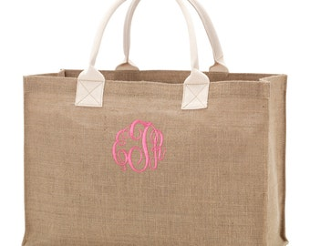 Burlap Tote Bag: Blank, Personalized, or Monogrammed