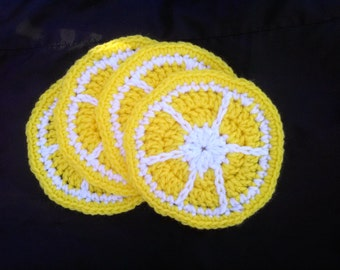 Lemon Coasters- Set of 4