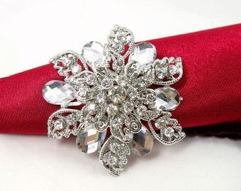 10pcs Crystal Rhinestone Brooch Wedding Brooch Wedding Favors Wedding Bouquet Brooch Embellishment Wholesale Brooches Invitations Decoration