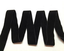 Double-Faced Black Velvet Ribbon (4mm-50mm) Width available