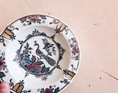 RESERVED for Christina | 1970's Villeroy & Boch Hand Painted Peacock Ceramic Ashtray