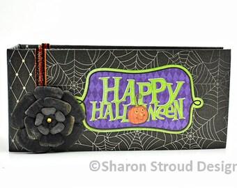Happy Halloween Premade Interactive Mini Scrapbook Album
