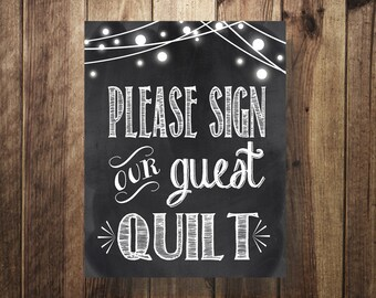 Please Sign Our Guest Quilt, Please Sign Our Guest Book, Guestbook Sign, Guest Book Sign, Alternative Guest Book,Wedding Reception Printable