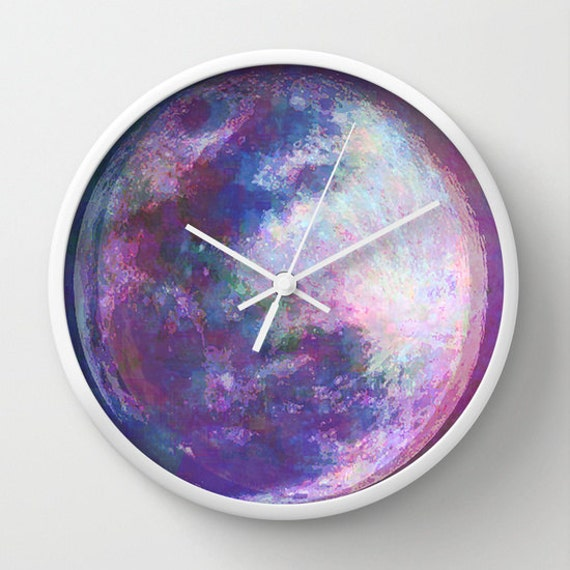 Dizzy Moon Wall Clock Moon Art Unique Clock Modern Wall